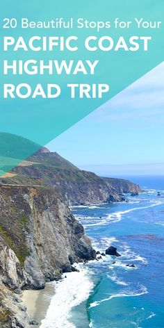 20 Beautiful Stops for Your Pacific Coast Highway Road Trip - - The Pacific Coast Highway road trip in California is one of my favourite things to do. Here are 20 beautiful spots from San Francisco to San Diego. Pacific Coast Highway, Highway Road, West Coast Road Trip, Us Road Trip, Road Trip Hacks, Highway 1 Roadtrip, San Diego, San Francisco, California Coast