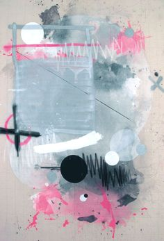 Federico Saenz Recio  Painting#09  Acrylic,graphite, pastel and spraypaint on canvas  48 x 68 inches