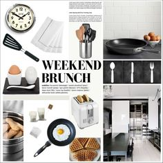 Lazy Weekend Brunch by szaboesz on Polyvore featuring polyvore, interior, interiors, interior design, home, home decor, interior decorating, All-Clad, Just Slate Company and Waterford