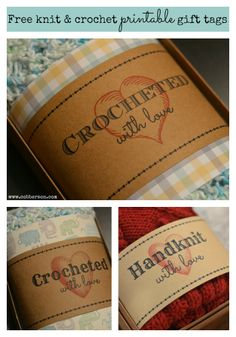 Crocheted with love - free printable gift tag!