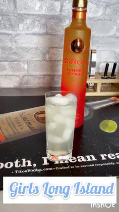 Citrus Recipes, Vodka Recipes, Alcohol Drink Recipes, Vodka Cocktails, Summer Cocktails, Cocktail Recipes, Alcoholic Drinks, Smoothie Drinks, Smoothies