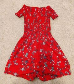bd980cadacf Red floral stretch romper dress - size XL  fashion  clothing  shoes   accessories  womensclothing  dresses (ebay link)