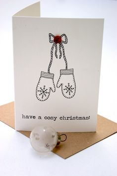 Button Box Christmas Cards