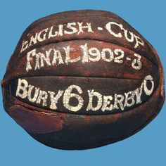 Match ball from the 1903 FA Cup final.  Still a record score for the event (on loan @ the NFM).