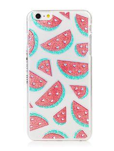 iPhone 6 Plus / 6S Plus Glitter Watermelon Case | Skinnydip London