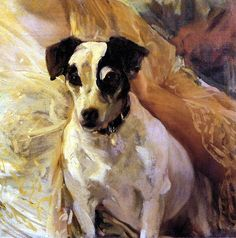 Sorolla y Bastida, Joaquin (1863-1923) - 1909 Portrait of a Jack Russell (Private Collection) by RasMarley, via Flickr