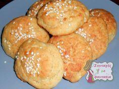 Εύκολα Τυροπιτάκια Χωρίς Φύλλο: Πολύ νόστιμα τυροπιτάκια που γίνονται γρήγορα και εύκολα, χωρίς να ανοίξουμε φύλλο! Ιδανικά για κολατσιό! Cheese Pies, Greek Recipes, Hamburger, Muffin, Food And Drink, Bread, Baking, Breakfast, Vintage