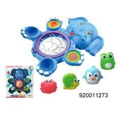 Plastic kids cute elephant animal shoot basket game play toy set - china Bath Toys manufacturer - Shantou Bana Import & Export Co., Ltd