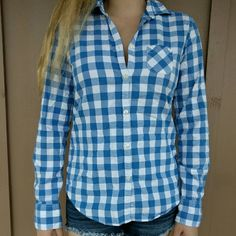 American rag flannel Like new,  size 8 but fits like a small for sure!:) American Eagle Outfitters Tops Button Down Shirts