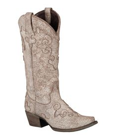 Another great find on #zulily! Silver Dawson Leather Cowboy Boot by Lane Boots #zulilyfinds