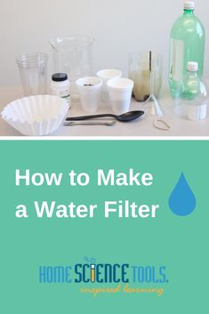 How can contaminated water become safe to drink? Watch a sand water filter science project video and learn about the five steps of water purification. Stem Projects, Science Projects, Science Project Video, Water Experiments, Making Water, Sand And Water, Water Wise, Water Purification, Water Treatment
