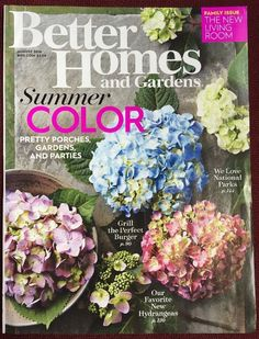 New BETTER HOMES AND GARDENS Magazine PRETTY PORCHES, GARDENS, & PARTIES