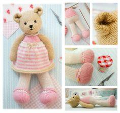 2 Teddy Bear Knittin