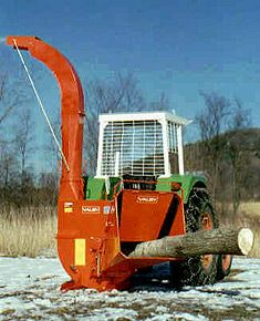 """Farmi Forest CH260 Self Feed Wood Chipper.  Chips logs up to 10.25"""", brush, branches and slabs.  Available with hydraulic feed, conveyor feed and with loaders and trailers for professional use.  The variable chip size feature allows users to change chip size for different uses: bio fuel, landscaping, animal bedding and composting.  Make money from your 'scrap' wood!  Rugged forestry equipment."""