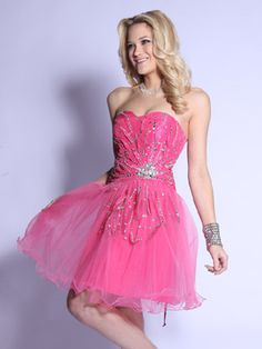 Silver Bead Embroidered Short Prom Dress
