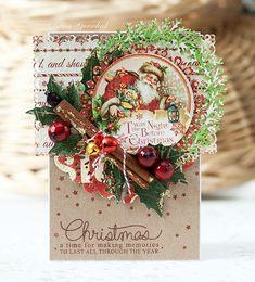carte de Noël shabby