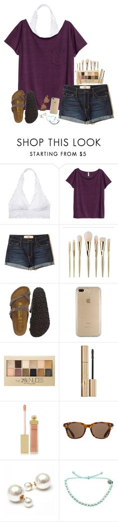 """i got some pura vida bracelets today!!"" by dancem27 ❤ liked on Polyvore featuring Victoria's Secret, H&M, Hollister Co., Birkenstock, Speck, Maybelline, Stila, AERIN, ToyShades and Pura Vida"