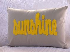 Felt words on a pillow... think I could do this with almost any word!