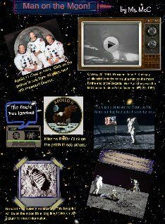 Man on the Moon Glogster Online Posters, Man On The Moon, Apollo 11, Moon Landing, Multimedia, Nasa, Middle School, Workshop, Web 2