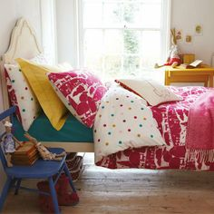 Joules Piggy Cat Farm bed linen set - as seen in Red Mag