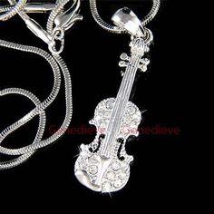 W Swarovski Crystal Big Musical Instrument by ElementsOfArt