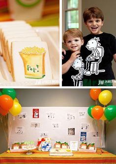 Diary of a Wimpy Kid party