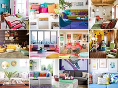12 Unbelievably Colorful Living Rooms | Brit + Co.