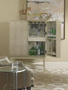 HOV Century Furniture - Archive Home and Monarch Seymour Bar Cabinet - MN5601 Dimensions: Outside: W: 36 in X D: 20 in X H: 52.25 in