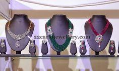 Jewellery Designs: Emerald Beads and Rubies Haram