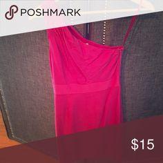 One shoulder dress Bright pink one shoulder dress Banana Republic Dresses One Shoulder