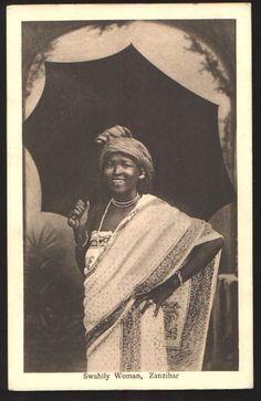 Swahili woman Zanzibar 1900s