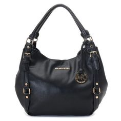 Charming Michael Kors Bedford Large Black Shoulder Bags Make You To BeCrazy
