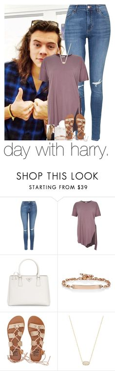 """day with harry."" by sydneykhall ❤ liked on Polyvore featuring Topshop, Prada, Hoorsenbuhs, Billabong, Kendra Scott and France Luxe"