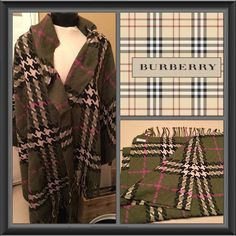 Authentic Burberry Shawl Scarf Beautiful pre-loved great condition awesome colors very soft 90% merino wool 10% Cashmere Burberry Accessories Scarves & Wraps