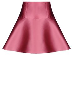 RED Valentino Lace Detail Silk Twill Skirt - Skirt Women | RED Valentino E-Store