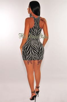 Turn heads in this chic black racer back dress. Made with a silver shimmer bodice and bodycon fit. Lace Up Back Dress, Dress Backs, Dress P, Black Racer, Hot Miami Styles, Strapless Maxi, Denim And Lace, Miami Fashion, Bell Sleeve Dress