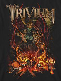 Trivium on Behance Heavy Metal Art, Heavy Metal Bands, Black Metal, Music Artwork, Metal Artwork, Thrash Metal, Power Metal, Muro Rock, Metal Band Logos