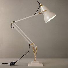 Buy Elephant Grey Anglepoise Original 1227 Brass Desk Lamp from our Desk & Table Lamps range at John Lewis. Bedside Table Lamps, Bedroom Lamps, Bedroom Ideas, Desk Light, Lamp Light, Room Lights, Ceiling Lights, Anglepoise Lamp, Lamp Inspiration
