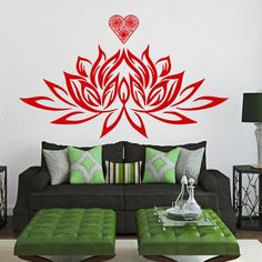 Hey, I found this really awesome Etsy listing at https://www.etsy.com/listing/204091829/wall-decals-lotus-flower-heart-flaming
