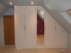 #wardobe #storage Built in wardrobes for sloping ceilings