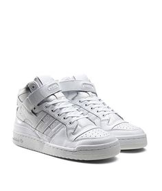 watch 24989 2c227 adidas Originals Forum Mid Refined White Adidas Basketball Shoes,  Sneaker Magazine,