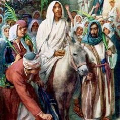Triumphal Entry by Harold Copping ~ Jesus Palm Sunday. Thank you sweet Becky. Religious Pictures, Bible Pictures, Jesus Pictures, Catholic Art, Religious Art, Biblical Art, Palm Sunday, Jesus Lives, Holy Week