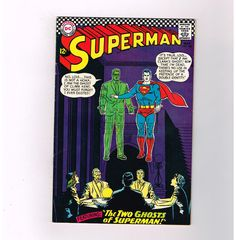 "SUPERMAN (v1) #186 Grade 7.0 Silver Age DC! ""The Two Ghosts of Superman""!  http://www.ebay.com/itm/-/291574548663?roken=cUgayN&soutkn=sFzVRQ"