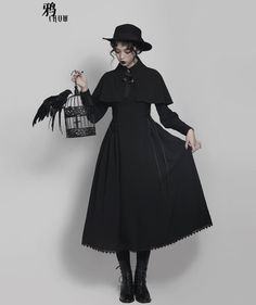 Your Gift -The Raven- Gothic Lolita Jacket (OP Dress) and Cape,Lolita Dresses, Real Costumes, Gothic Lolita, Victorian Gothic, Lolita Dress, Indie Brands, Dress Backs, Girl Fashion, Lolita Fashion, Girls Dresses