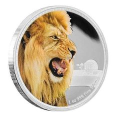 2016 Niue Kings Of The Continents - African Lion 1 oz Silver Coin