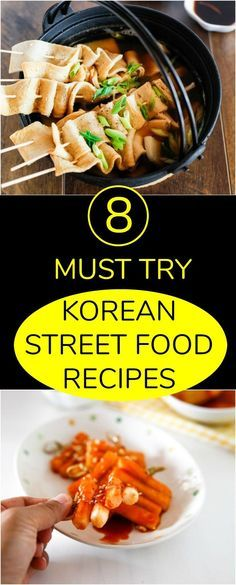 Explore wonders of delicious Korean street food! Here I share 8 must try Korean street food recipes you can try in your own home. Easy, fun and delicious! Chinese Street Food, Korean Street Food, Chinese Food, Japanese Street Food, Korean Food List, Greek Recipes, Asian Recipes, Japanese Recipes, Healthy Korean Recipes