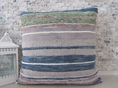Welcome to my shop ZDKilimsPillow  All my kilim pillows in my Collections are made from vintage kilims they have been wash and ready to use,  # Size is 24 inches x 24 inches which is 60 cm x 60 cm # back is cotton fabric with hidden zipper # insert is not together with kilim pillow # and another size of my pillow covers  dimension = 12 x 12 and 14 x 14 ( 30x 30 & 35x35 cm) https://www.etsy.com/shop/ZDkilimspillow?section_id=18506352  dimension = 16 x 16 ...