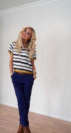 februar 2012 - Page 6 of 7 - Caroline Berg Eriksen We Heart It, Capri Pants, Stripes, My Style, Sony, Fashion, February, Moda, Capri Trousers