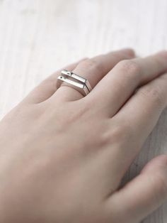 IXOYE`Signet Ring Stack Power, strength Unleashed, you are a polished gem For you, aren't merely a name.