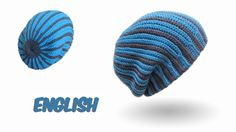 Crochet Long Beanie bosnian crochet - with two colors